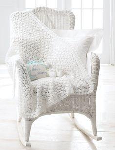 Elegant and Easy Crochet Baby Blanket and Booties