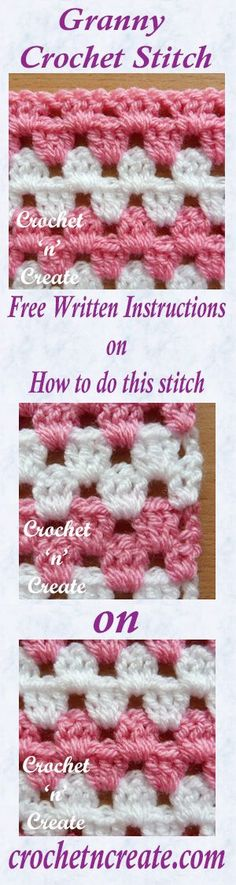 Free written instructions for granny stitch.
