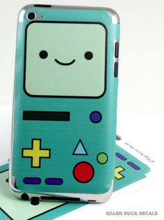 Adventure Time iPod Touch Decal Skin. $6.00, via Etsy.
