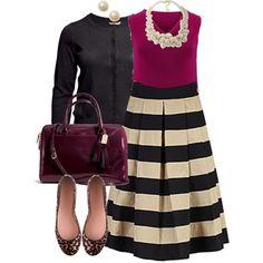 #plus #size #plussize Stripe Skirt - Plus Size