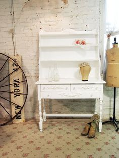 Painted Cottage Chic Shabby White Farmhouse by paintedcottages,