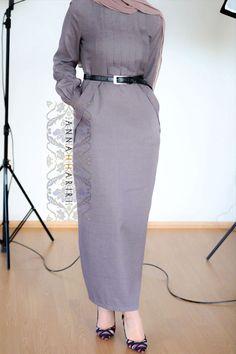 Office Felisa Dress by ANNAH HARIRI - hijabi clothing - Office Dress
