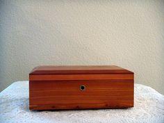 Vintage Miniature Lane Cedar Chest Jewelry Box