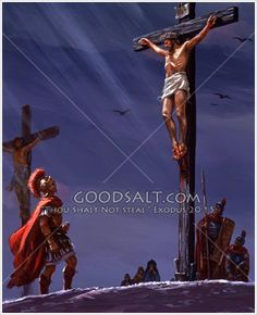 The Roman Centurion confesses faith in Christ at the cross. Christian Paintings, Christian Art, King Jesus, God Jesus, Mama Mary Photo, Jesus Cartoon, Worship Backgrounds, Roman Centurion, Fusion Ink