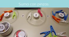 Actividades con tapones y pinzas - Aprendiendo matemáticas Toothbrush Holder, Maths, Toys, Plugs, Activities For Kids, Initials, Blue Prints, Toothbrush Holders