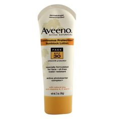 Aveeno Active Naturals Continuous Protection Face Spf 30 Sunblock Lotion, 3 oz -- Protect ourselves while we're young. Aveeno Active Naturals, Face Lotion, Johnson And Johnson, Face Oil, Moisturiser, Good Skin, Skin Care, Sun Protection, Retirement