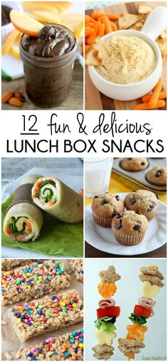 From fruits to veggies, and dips to desserts, you are sure to find something your kids will like in this roundup of fun and delicious lunch box snacks!