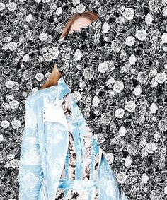 Mixed media - wallpaper inspired baroque and floral prints - are setting the latest trends at DuJour Magazine