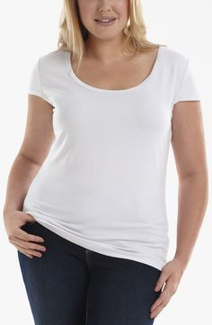 Scoop neck Tee/White Style No: Viscose elastane scoop neck cap sleeve tee. Bow Back Tank, Sweater Shirt, Racerback Tank, Basic Tank Top, Tees, Shirts, Scoop Neck, Tunic Tops, Fashion Outfits