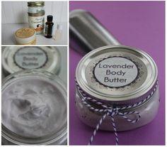{Gifts in a Jar} Lavender Body Butter - BargainBriana