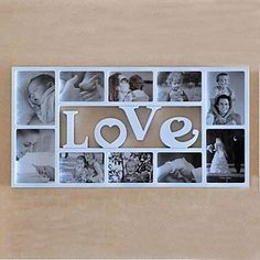 English Word Love White ABS Photo Wall Frame Collection Set of 10 – AUD $ 100.09