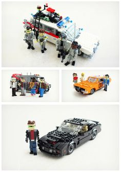 We're absolutely loving these classic 80's #cars made entirely out of #Lego!  The Ecto-1 from #Ghostbusters, the A-Team van, General Lee from the Dukes of Hazard and K.I.T.T from Knight Rider all make an appearance. xoxo