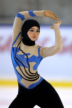 Zahra Lari first Emirati skater, to compete internationally- good on her for trying a sport and observing her religious integrity.