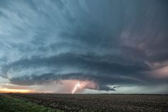 Credit: Roger Hill/Barcroft Media A supercell thunderstorm illuminates the sky in Sanford, Kansas. The storm started at 2pm and was still raging at 10pm that night