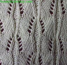 Wave knitting stitches