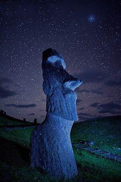 Easter Island by Randy Olson