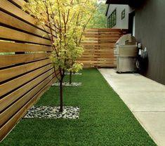 Gartenzaun-Holz-moderne-Gestaltung-Sichtschutz