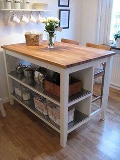 Ikea kücheninsel stenstorp  STENSTORP Kücheninsel in Weiß mit Arbeitsplatte aus Eiche. Zwei ...