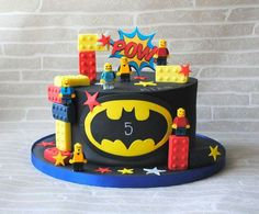 Batman lego cake - Lego Batman - Ideas of Lego Batman - Batman le. Batman lego cake - Lego Batman - Ideas of Lego Batman - Batman lego cake Lego Batman Birthday Cake, Lego Batman Cakes, Lego Batman Party, Lego Birthday Party, Lego Cake, 5th Birthday, Lego Superhero Cake, Birthday Ideas, Fondant