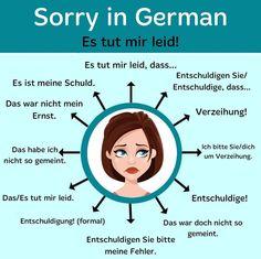 Study German, German English, German Grammar, German Words, German Language Learning, Language Study, Spanish Language, Reflexive Verben, Deutsch Language