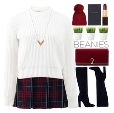 """""""~Hat Head: Pom Pom Beanies~"""" by amethyst0818 ❤ liked on Polyvore featuring Lands' End, Louise et Cie, T By Alexander Wang, Gianvito Rossi, Tom Ford, Kikkerland, Smythson, Topshop and Louis Vuitton"""