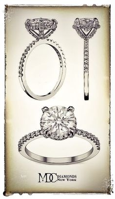 Diamond Halo Crown Engagement Ring