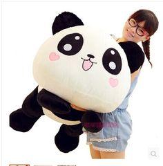 49.29$  Watch here - http://alie7i.shopchina.info/go.php?t=2030639985 - large 80 cm panda plush toy lovely lying panda doll throw pillow Christmas gift w6834  #buyonlinewebsite