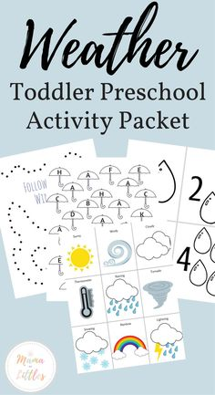 Weather Preschool Toddler Packet - Mama of Littles