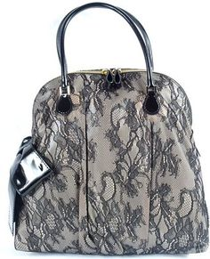 Valentino Lace Tall Dbl Handle Tote