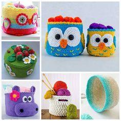 Lindos cestitos a crochet