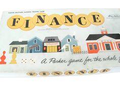 Vintage Finance Game, 1960's Finance Board Game, Parker Brothers Game