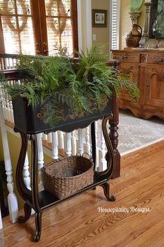 Parade of Homes Tour ~ Housepitality Designs - At The Picket Fence French Furniture, Home Furniture, Cottage Design, House Design, Plant Painting, Cottage In The Woods, Green Theme, Cabin Interiors, House Inside