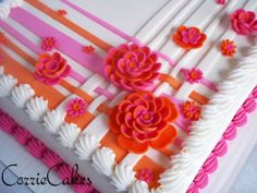 Wedding sheet cake, could be a baptism cake with a cross on it too.