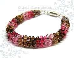 Items similar to Swarovski Bracelet; Luxurious Coco Raspberry Swarovski Crystal Bracelet by CandyBead on Etsy Swarovski Bracelet, Swarovski Jewelry, Crystal Bracelets, Beaded Jewelry, Swarovski Crystals, Purple Necklace, Necklace Set, Custom Jewelry, Handmade Jewelry