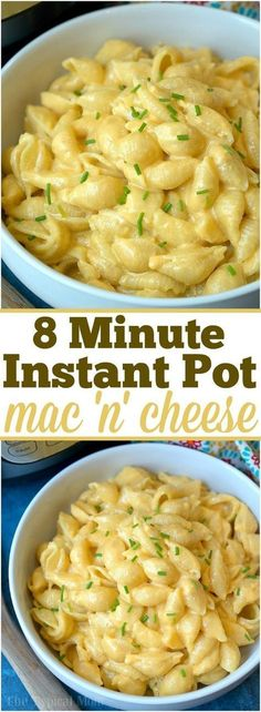 The best 4 ingredient Instant Pot macaroni and cheese recipe ever! Just 8 minutes to the perfect pressure cooker macaroni and cheese with bacon.