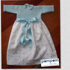 Faldón primera puesta azul bebe