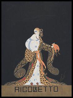 Erte. Rigoletto 1922 #VerdiMuseum