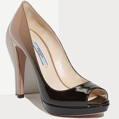 Hey (H)ombre! The Dip-Dyed, Dégradé Peep Toe Pump from Prada
