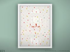 Need this one. So precious.  Kids heart art print wall decor custom name art by LeoLittleLion, $29.00