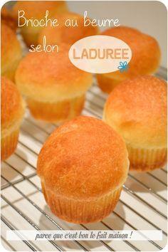 Brioche butter Ladurée home . - Well done for your apple! Brioche Recipe, Brioche Bread, Bread Dough Recipe, Pie Crust Recipes, Croissants, Diy Ice Cream Cake, Levain Bakery, Donuts, Cooking Chef