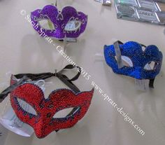 well that would be my finished Masquerade Mask Collection Don't they look fab?  Each one is crafted with 100's of individual 3/2/1mm Diamante's.   #mask #mixedmediaart #masquerade