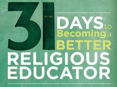 "Interview with Jared Dees on his new book, ""31 Days to Becoming a Religious Educator."" This book is great for both catechists and Catholic School teachers. The exercises are very practical and continually bring things back to the spiritual."