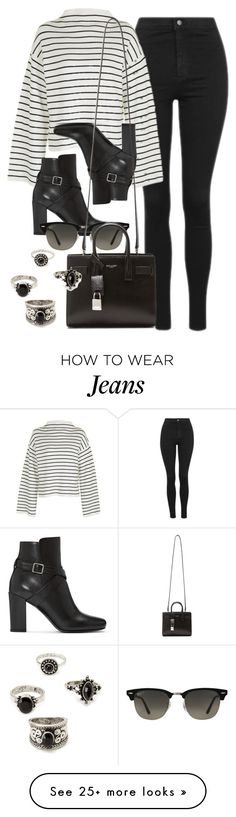 """""""Style #11590"""" by vany-alvarado on Polyvore featuring Topshop, Yves Saint Laurent, Ray-Ban and Forever 21"""