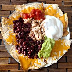 High protein Nachos using low carb tortillas and sub in field roast to make it vegetarian 15 Guilt Free Keto Snacks & Treat Recipes High Protein Low Carb, High Protein Recipes, Low Carb Recipes, Vegetarian Recipes, Snack Recipes, Healthy Recipes, Recipes With Macros, High Protein Vegetarian Meals, Easy High Protein Meals