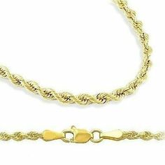 """18k Gold Plated 2mm Italian Rope Chain Necklace 7"""" 8"""" 9"""" 16"""" 18"""" 20"""" 24"""" 30"""" (30 Inches) THE ICE EMPIRE. $35.95. Necklace Lengths 16, 18, 20, 22, 24, 30 inches. Bracelet Lengths 7, 8, 9 inches. lobster claw clasp. .925 Sterling Silver Diamond Rope Cut 18k High Quality Gold Plated. 2 millimeters Gauge 040"""