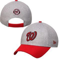 Washington Nationals New Era Heathered 9FORTY Adjustable Hat - Heather Gray - $19.99