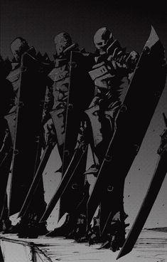Manga and Stuff — What the hell happened to Tsutomu Nihei's art. Character Concept, Character Art, Concept Art, Character Design, Arte Ninja, Arte Robot, Dark Fantasy, Fantasy Art, Blame Manga