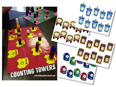 1:1 Counting Towers! Great for the beginning of the year!