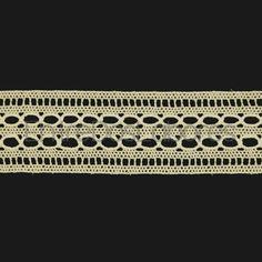 Entredós con pasacintas de encaje de bolillos de algodón mercerizado de 3,5 cm. (Disponible en 2 colores)