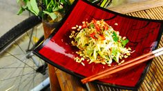 Green mango and dried anchovy salad recipe (goi kho ca com xoai song) : SBS Food
